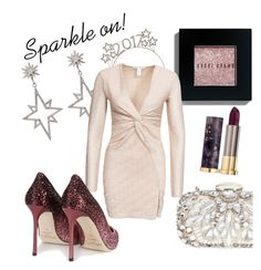 """Sparkle New Year Eve"" by alexandradimilano ❤ liked on Polyvore featuring Apples & Figs, Bobbi Brown Cosmetics, Natasha Couture, NLY Trend, Jimmy Choo and Urban Decay"