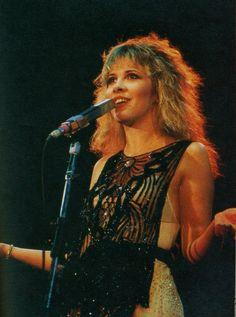 Stevie Nicks performing in the 1970s