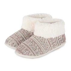 Isotoner Knitted Pillowstep Bootie Slipper