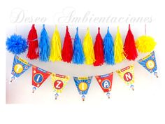Guirnaldas Payaso Plim Plim Carnival Themed Party, Circus Party, Ideas Para, First Birthdays, Party Time, Banner, Baby Shower, Kids, Search