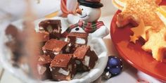 A Food Network Canada Recipe Fudge Recipes, Dessert Recipes, Desserts, Cream Cheese Fudge Recipe, Rocky Road Fudge, Food Network Recipes, Cooking Recipes, Food Network Canada, Christmas Baking