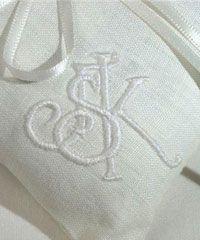 Monograms, Hand Embroidered Monograms, Embroidery on Linen, Monogrammed, Monogramming, Embroidery for Wedding, Textile Art, Antique Embroidery,Victorian Embroidery, Restoration Antique Embroidery, Fine Embroidery,  Hand Embroidery, Hand Guided Machine Embroidery, Custom Embroidery,  , One-of-a-kind items, Wedding Gown, Embroidery in New York, Hand-guided machine, Silk Embroidery, Satin Stitch, Applique, Embroidered Pillow, Embroidered Samples, Embroidery design, Embellishment