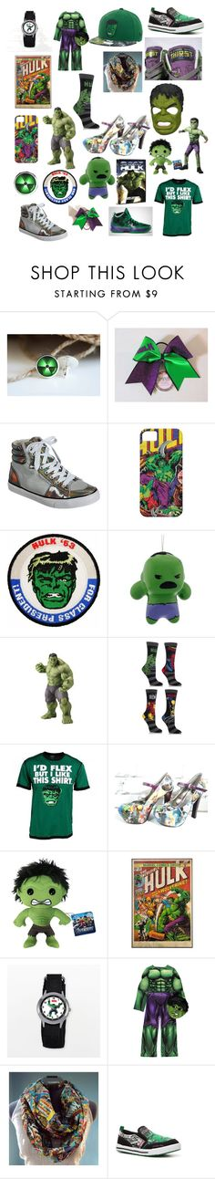 """Hulk !!!"" by sarah-jane-laliberte ❤ liked on Polyvore featuring Misbehave, Freaker, Marvel Comics, Wolverine, Funko and Stride Rite"