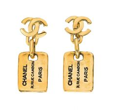 """Vintage Chanel """"Tag"""" Earrings: I reallllly want these :( One day..."""