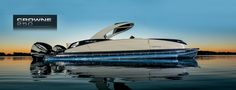 Barry Jay's and Rainbow Marine - New & Used Boats Sales, Service, and Parts in Edmonton, AB, near Legal and Warwick Barca News, Luxury Pontoon Boats, Pontoon Boat Accessories, Small Yachts, Yacht Builders, Below Deck, Cool Boats, Boat Stuff