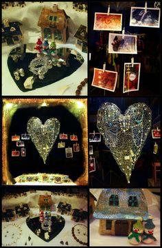 Das Januar-2019-Schaufenster des Klunkerfisch-Ladens in Halle (Saale): Das kalte Herz! Halle, Crown, Jewelry, Store Windows, Handmade Jewelry, January, Heart, Nice Asses, Corona