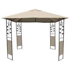 Pavilion gradina, terasa, structura metalica x x - bej Pavilion, Gazebo, Outdoor Structures, Design, Kiosk, Sheds, Cabana, Cabana