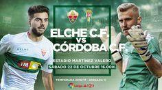 Este Sábado 22 de Octubre a las 16:00 horas en el Estadio Martínez Valero, el Elche se enfrenta al Córdoba. A por todas Elche! @Elche #9ine
