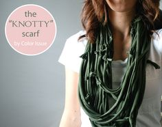 Modest Clothing   Modest Outfits   Modest Fashion Blog   Clothed Much    Knotty scarf...cute! Accessorize with upcycled scarves this fall/winter. Yes.