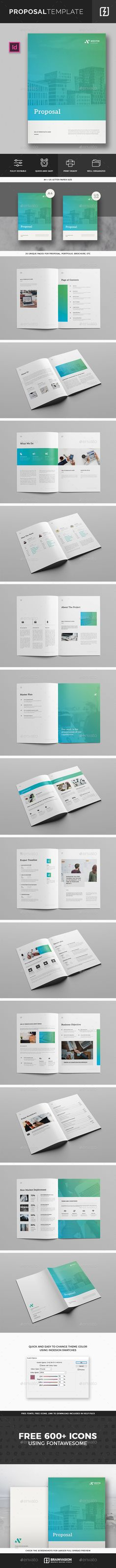 Social Media Proposal \u2014 InDesign INDD #seo proposal #cover letter - purchase proposal templates
