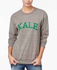 Sub_Urban Riot Kale Graphic Sweatshirt - Gray XS