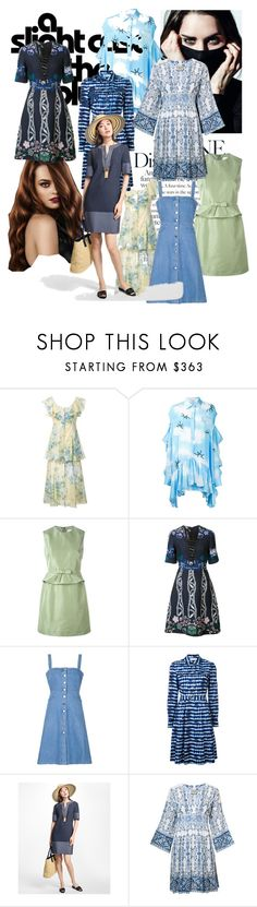 """A Slight Case of the Blue!"" by lalu-papa on Polyvore featuring Alice McCall, Natasha Zinko, RED Valentino, Yigal Azrouël, STELLA McCARTNEY, Tory Burch, Brooks Brothers and Sea, New York"