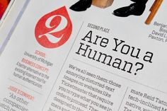 """Fortune Magazine, """"500"""" Issue  A wealth of typefaces go to work in the 2011 edition."""