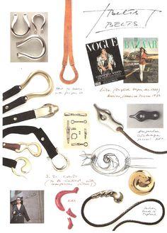 Belts- 1990- F.I.T. exhibit Tiffany N Co, Jewellery Sketches, Jewelry Sketch, New York Landmarks, Bunny Costume, Boho Grunge, Elsa Peretti, Vogue Magazine, Silver Flowers