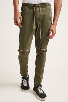 Product Name:Zippered Twill Woven Joggers, Category:CLEARANCE_ZERO, Price:27