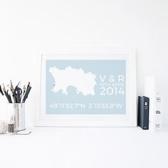 Document your wedding with a co-ordinate map #weddings