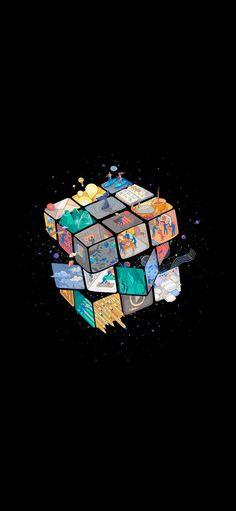 Amoled, dark, Rubik's Cube wallpaper • Wallpaper For You HD Wallpaper For Desktop & Mobile