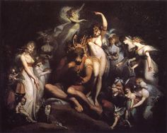 Henry Fuseli – Titania and Bottom (A Midsummer Night's Dream, IV-1) (c. 1790) oil on canvas  London, Tate Gallery
