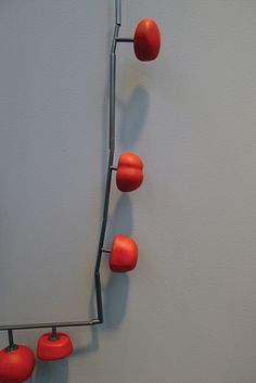 Jessica Turrell - Rash of Red necklace, silver and enamel
