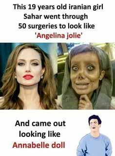 Let's just say the surgeon probably didn't know what Angelina Jolie looked like Wow Facts, Wtf Fun Facts, Funny Facts, Funny Jokes, Hilarious, Crazy Facts, Laughter Therapy, Have A Laugh, Twisted Humor