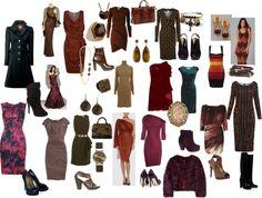 """Dark Autumn dress"" by christinems on Polyvore"