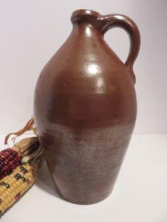 Ebay: Antique ovoid redware jug