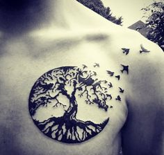 Black Birds And Tree Tattoos For Women photo - 3