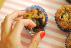Gluten free mini blueberry muffins
