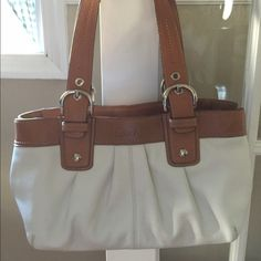 Coach soho tote 100% authentic coach soho tote. All leather. Mint condition. Will trade for boots Coach Bags Totes
