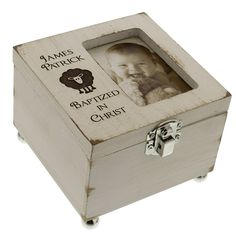 The perfect place to keep and protect those special baptism keepsakes.