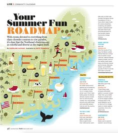 Ilrated Map Of The Northeast Us By Nate Padavick Www Idrawmaps Com