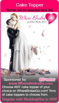 Wedding Sweepstakes - Win a wedding cake topper in this giveaway!