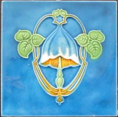 English Art Nouveau Tile - Wade