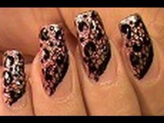 Pretty!  Pretty cool tutorial on nail art using real lace. All DYI!