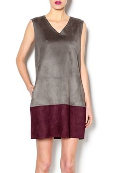 Suede sleeveless dress has a V-neck,pockets on the sidesand azipper on the back. Its soft fabric, and dark hues make it ideal for the fall season. Pair this dress with a jacket and leather boots.   Suede Sleeveless Dress by Gracia. Clothing - Dresses - Casual Clothing - Dresses - Suede West Village, Manhattan, New York City