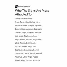 Who the signs are most attracted to