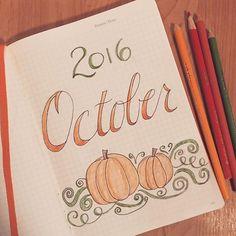 #planwithmechallenge - Hello, October!  #bulletjournal #planneraddict