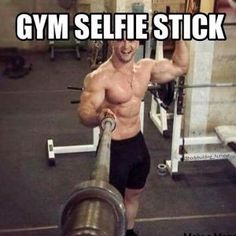 The gym selfie stick! Workout Memes, Gym Memes, Gym Workouts, Workout Diet, Cardio Gym, Workout Routines, Memes Humor, Crossfit Humor, Gym Humour