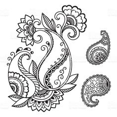 Dehna Tätowierung Blume Vorlage. Mehndi. Lizenzfreies vektor illustration