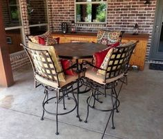 O.W. Lee Classico Barstools With Table Enjoy Your Outdoor Room   Yard Art  Patio U0026 Fireplace