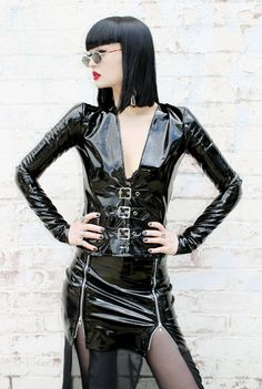 http://www.adelepsych.com/product/adele-psych-pleasure-pain-goth-black-pvc-buckle-top