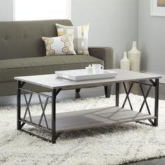 Simple Living Seneca Reclaimed Grey Double 'X' Design Cocktail Table