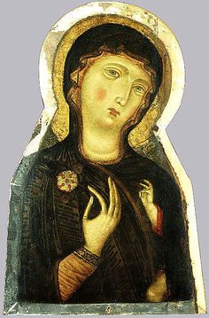 #CIMABUE #Art #Paintings #1200s #13th #Century Madonna and Child, 1280.