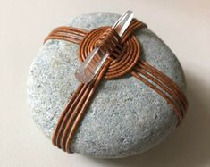 So Red jewelry by ZenRocksStudio on Etsy Zen Rock, Rock Art, Stone Crafts, Rock Crafts, Stone Wrapping, Weaving Textiles, Sticks And Stones, Red Jewelry, Zen Art