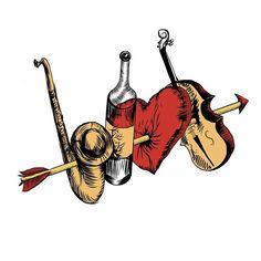 Подготовка к дню святого Валентина . Love and wine. Rock and classic.  #Сердце #тату #tatoo #афиша #листовки #буклет #скетч #скрипка #саксофон #вино #стрела #день #святого #Валентина #art #illustration #InstaTags4Likes #drawing #draw #picture #photography #artist #sketch #sketchbook #paper #pen #pencil #artsy #instaart