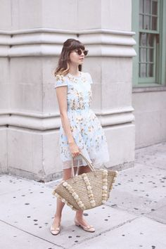 Emilee Anne: Embroidered Organza Dress