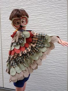 Fabric Owl Costume | AllFreeHolidayCrafts.com