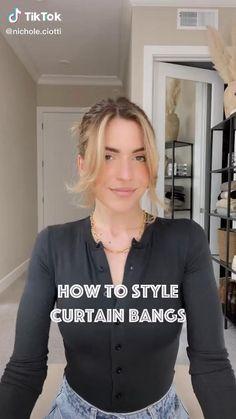 Bangs With Medium Hair, Medium Hair Styles, Curly Hair Styles, Curtain Bangs, How To Style Bangs, Aesthetic Hair, Grunge Hair, Hair Videos, Balayage Hair