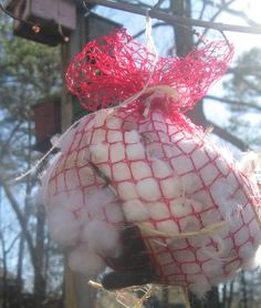Nesting balls are for the birds or add yarn! Use an old onion bag!  Should have…