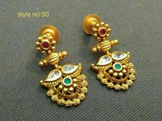 Jewelry Meaning As A Gift Jewellery Online Kl! Gold Jhumka Earrings, Indian Jewelry Earrings, Gold Earrings Designs, Jade Jewelry, Gold Jewellery Design, India Jewelry, Quartz Jewelry, Modern Jewelry, Fashion Earrings